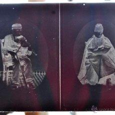 Fotografía antigua: FOTOGRAFÍA EN CRISTAL DE UNOS PERSONAJES DE PRINCIPIOS SIGLO XX. Lote 45579005