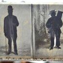 Fotografía antigua: FOTOGRAFÍA EN CRISTAL DE UNOS PERSONAJES DE PRINCIPIOS SIGLO XX. Lote 45579150
