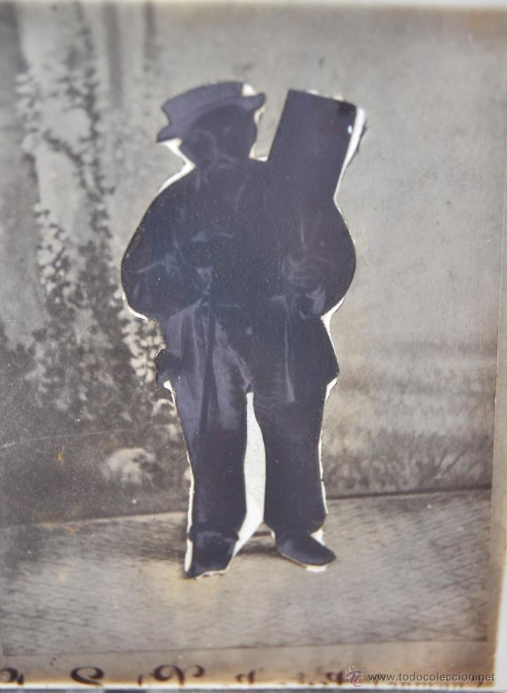 Fotografía antigua: FOTOGRAFÍA EN CRISTAL DE UNOS PERSONAJES DE PRINCIPIOS SIGLO XX - Foto 4 - 45579150