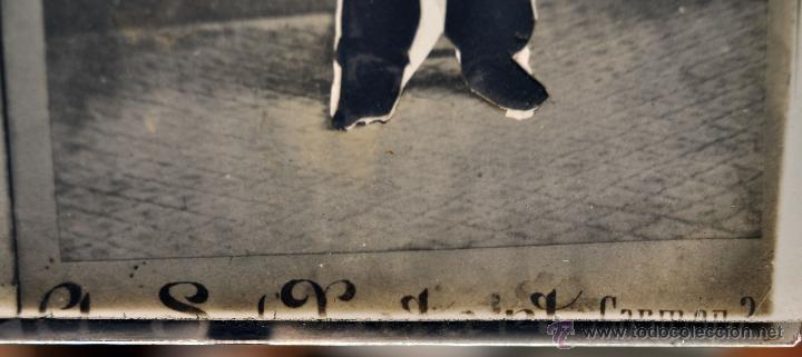 Fotografía antigua: FOTOGRAFÍA EN CRISTAL DE UNOS PERSONAJES DE PRINCIPIOS SIGLO XX - Foto 5 - 45579150