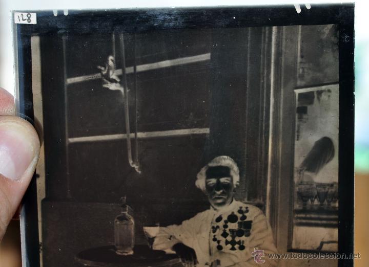 Fotografía antigua: FOTOGRAFÍA EN CRISTAL DE UN MILITAR?? PRINCIPIOS SIGLO XX. GUERRA CIVIL - Foto 4 - 45579231