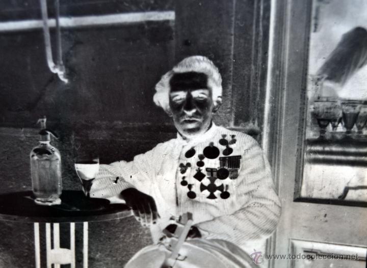 Fotografía antigua: FOTOGRAFÍA EN CRISTAL DE UN MILITAR?? PRINCIPIOS SIGLO XX. GUERRA CIVIL - Foto 5 - 45579231
