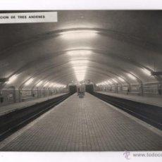 Fotografía antigua: ESTACIÓN DE TREN DE NAVAS, LINEA 1, BARCELONA, 1960'S. 20X30 CM.. Lote 45718041