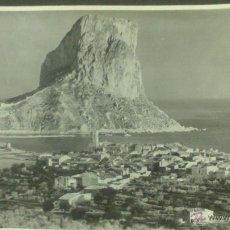 Fotografía antigua: PEÑON DE IFACH (CALPE) FOTOGRAFIA 14 X 11 CM. AÑO 1951, FOTOGRAFIA SANCHEZ, ALICANTE. Lote 45745251