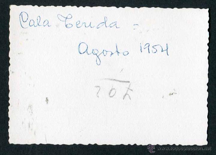 Fotografía antigua: Ibiza. Turistas. Cala Terida. 8/1954 - Foto 2 - 45935490