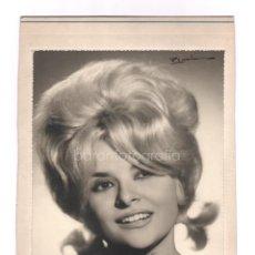 Fotografía antigua: RETRATO DE ARTISTA DE CABARET, 1960'S. FOTO: ROMÁN, BARCELONA. 18X24 CM. SOPORTE: 20X27 CM.. Lote 45943866