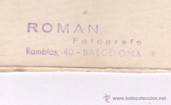 Fotografía antigua: Retrato de artista de cabaret, 1960's. Foto: Román, Barcelona. 18x24 cm. soporte: 20x27 cm. - Foto 2 - 45943866