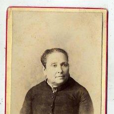 Fotografía antigua: FOTO A.ESPLUGAS-BARCELONA RETRATO SEÑORA TAMAÑO IMPERIAL CON REVERSO IMPRESO. Lote 46379328