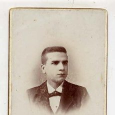 Fotografía antigua: FOTO W.POLAK BARCELONA RETRATO SEÑOR TAMAÑO IMPERIAL BONITO REVERSO. Lote 46789959