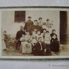 Fotografía antigua: GRUPO FAMILIAR.F-32. Lote 47083535