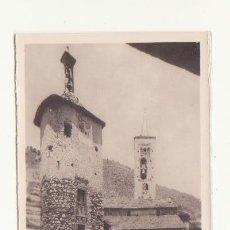 Fotografía antigua: ANTIGUA FOTOGRAFIA ORIGINAL ZERKOWITS SON DEL PI CASA COMUNAL E IGLESIA VALLES DE ANEU LERIDA. Lote 47213553