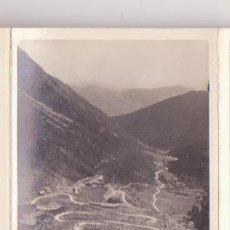 Fotografía antigua: ANTIGUA FOTOGRAFIA ORIGINAL ZERKOWITS CARRETERA PUERTO DE BONAIGUA A VALENCIA VALLES DE ANEU LERIDA. Lote 47213720