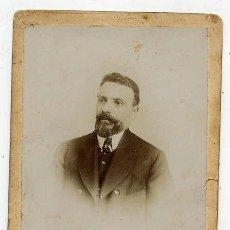 Fotografía antigua: FOTO ALONSO BARCELONA RETRATO SEÑOR TAMAÑO IMPERIAL CON REVERSO. Lote 47281644