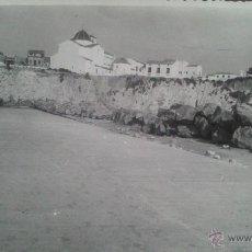 Fotografía antigua: BENIDORM (ALICANTE) FOTOGRAFIA ORIGINAL VISTA DE LA REPARACION DEL DIQUE, 19,09,1957. Lote 47301446