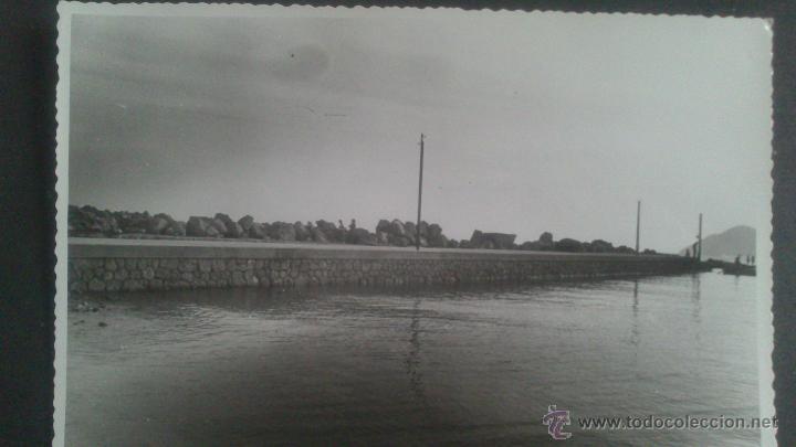 BENIDORM (ALICANTE) FOTOGRAFIA ORIGINAL VISTA DE LA REPARACION DEL DIQUE, 19,09,1957 (Fotografía Antigua - Gelatinobromuro)