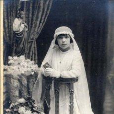 Fotografía antigua: FOTO CHINCHILLA TARRAGONA PRIMERA COMUNION 25 X 20 CM: . Lote 47390437