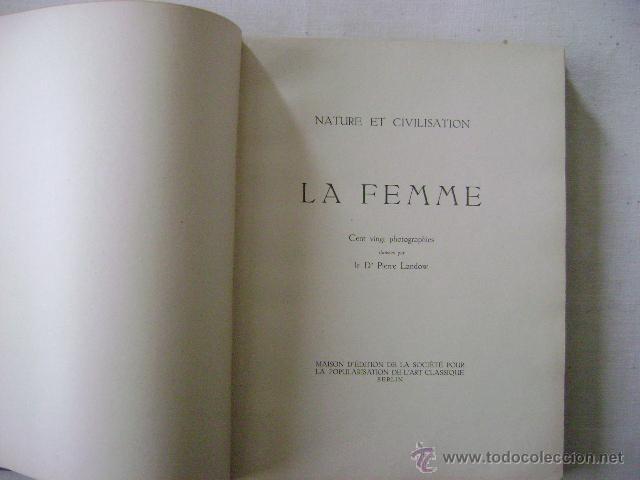 Fotografía antigua: LA FEMME.NATURE ET CIVILISATION.Nº-660 - Foto 3 - 47455044