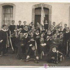 Fotografía antigua: TUNA MINDONIENSE MONDOÑEDO. GALICIA. 1930. CON ESTANDARTE Y UNIFORMADOS.. Lote 47831591