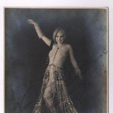 Fotografía antigua: MARY, RETRATO DEDICADO A SEBASTIÁN BAUZÁ. 1930'S. 18X24 CM.. Lote 47956706