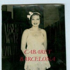 Fotografía antigua: CABARET - BARCELONA - 1930'S FOTOGRAFIA MERLETTI HIJO. Lote 48221633