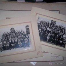 Fotografía antigua: LOTE 3 FOTOS ESCUELA ESTUDIANTES NIÑOS ONTENIENTE VALENCIA AÑOS 30 FOT. BLAYA JAIME TRAJES RELIGION. Lote 48738536