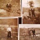 Fotografía antigua: LOTE 4 FOTOGRAFIAS , 9,5 X 7 CM, CAZADORES EN NAVALPERAL (AVILA) UN DIA DE CAZA, AÑO 1942. Lote 48922804