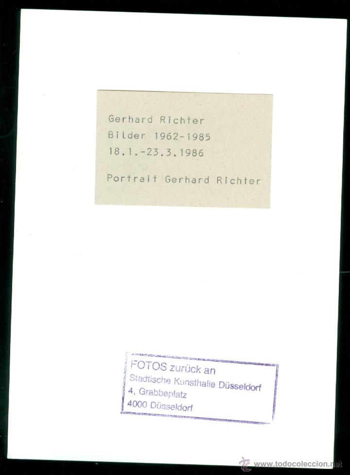Fotografía antigua: GERHARD RICHTER - Foto 2 - 49117366