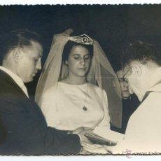 Fotografía antigua: REPORTAJE DE BODA, LOTE 4 FOTOS., FOTO CASTAÑO, BARACALDO, BILBAO, 1964 11,5X17,5 CM. Lote 49476265