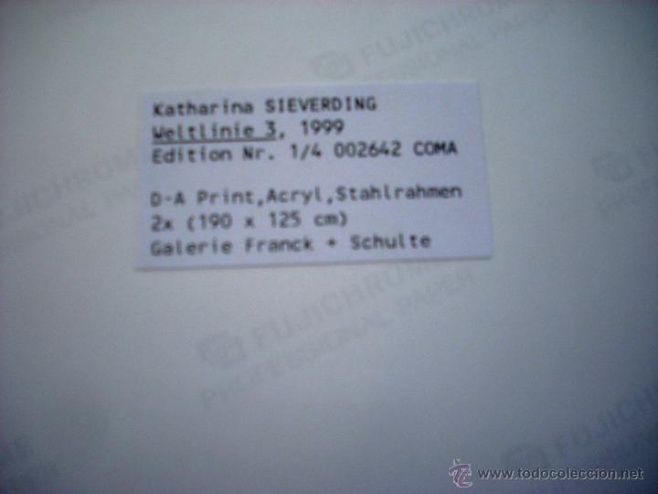 Fotografía antigua: KATHERINAS SIEVERDING - WELTLINIE 3 - 1999 - Foto 3 - 49510949