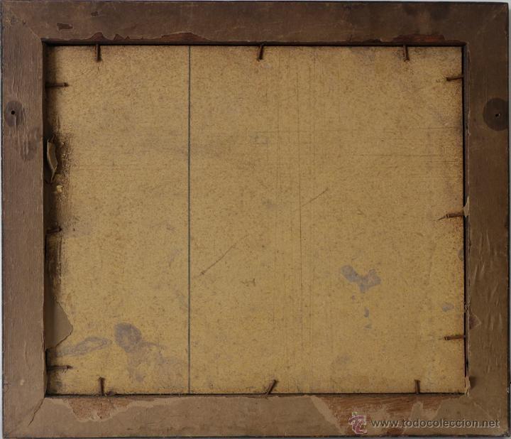 Fotografía antigua: MARCO ANTIGUO DE MADERA NEGRA CON FOTO DE GRUPO DE AUSTRALIANOS 37 x 32 CM - Foto 3 - 49823916