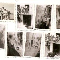 Fotografía antigua: FRADES: 8 FOTOS ANTIGUAS DE ENCIERRO DE TOROS. Lote 49882302