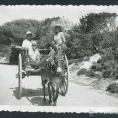 Fotografía antigua: IBIZA. TURISMO. CARRO Y TURISTAS ENCANTADOS-1. C. 1950. Lote 50162851