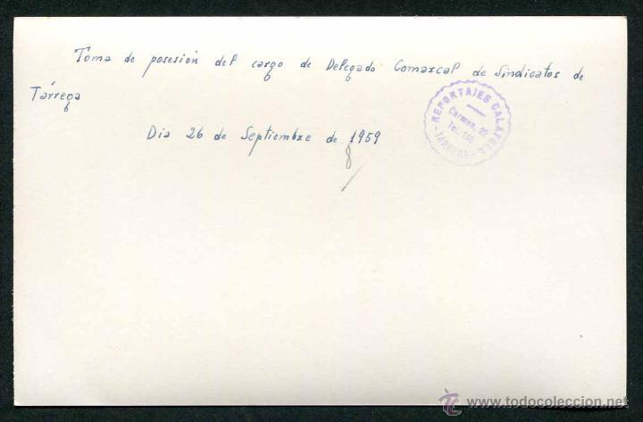 Fotografía antigua: Franquismo. Tárrega. Reunión política de autoridades. 1959 - Foto 2 - 50293363