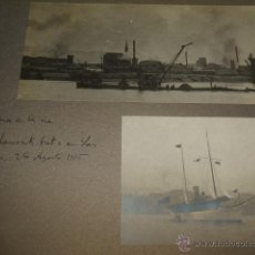 Fotografía antigua: BILBAO BARCOS EN LA RIA 5 FOTOGRAFIAS POR ADOLFO DE LANDECHO Y ALLENDESALAZAR 1915. Lote 50518386