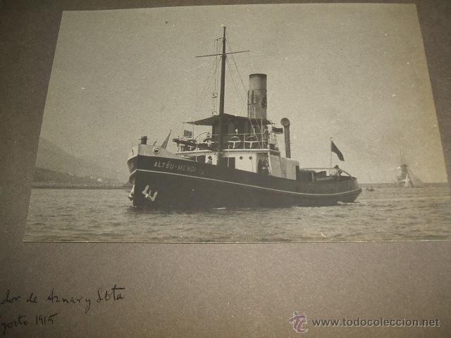 Fotografía antigua: BILBAO BARCOS EN LA RIA 5 FOTOGRAFIAS POR ADOLFO DE LANDECHO Y ALLENDESALAZAR 1915 - Foto 2 - 50518386