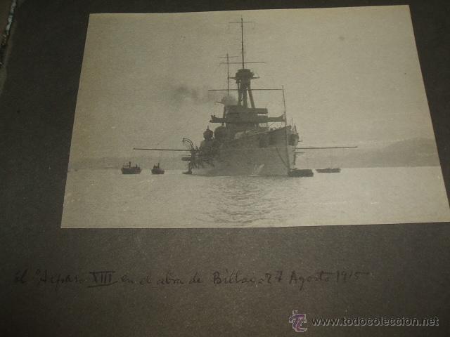 Fotografía antigua: BILBAO BARCOS EN LA RIA 5 FOTOGRAFIAS POR ADOLFO DE LANDECHO Y ALLENDESALAZAR 1915 - Foto 3 - 50518386