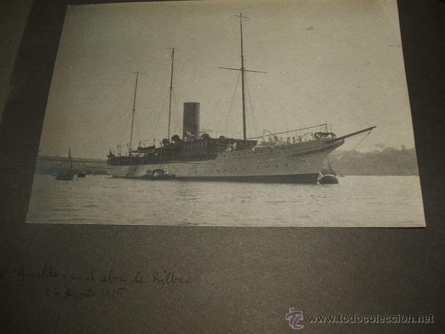 Fotografía antigua: BILBAO BARCOS EN LA RIA 5 FOTOGRAFIAS POR ADOLFO DE LANDECHO Y ALLENDESALAZAR 1915 - Foto 4 - 50518386