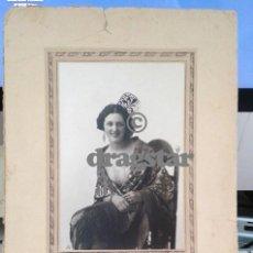 Fotografía antigua: FOTOGRAFIA ORIGINAL DE LA VALENCIANA PEPITA SAMPER, MIS ESPAÑA EN 1929. Lote 112407042