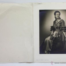 Fotografía antigua: RETRATO FEMENINO, FOTO: JOSEP MASANA 1930'S. BARCELONA, SOPORTE: 32X25 CM.. Lote 51158687