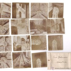 Fotografía antigua: PALAU DALMASES, BARCELONA. 15 CONTACTOS FOTOGRÁFICOS 6X6 CM. DE EPOCA, 1910'S. APROX. Lote 51400638