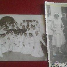 Fotografía antigua: PAREJA DE FOTOS, DAMAS DE LA CRUZ ROJA ESPAÑOLA, MEDALLAS, PALMA DE MALLORCA 1955, UNA FOTO JUANET. Lote 51770026