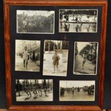 Fotografía antigua: CONJUNTO 7 FOTOGRAFÍAS ATLETISMO. EQUIPO CAMPEÓN DE ESPAÑA DE CROSS COUNTRY A.E.TAGAMANENT.1933-1934. Lote 52161566