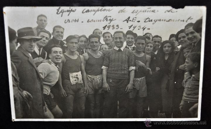 Fotografía antigua: CONJUNTO 7 FOTOGRAFÍAS ATLETISMO. EQUIPO CAMPEÓN DE ESPAÑA DE CROSS COUNTRY A.E.TAGAMANENT.1933-1934 - Foto 2 - 52161566