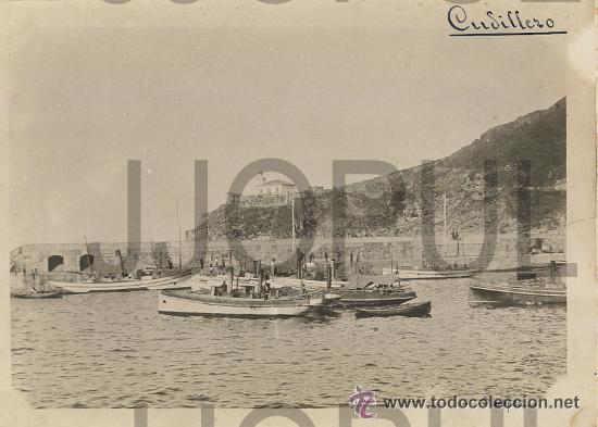 CUDILLERO. ASTURIAS. VISTA DEL PUERTO CON BARCOS DE PESCA. C. LOPEZ. H. 1910 (Fotografía Antigua - Gelatinobromuro)