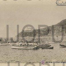 Fotografía antigua: CUDILLERO. ASTURIAS. VISTA DEL PUERTO CON BARCOS DE PESCA. C. LOPEZ. H. 1910. Lote 52952253