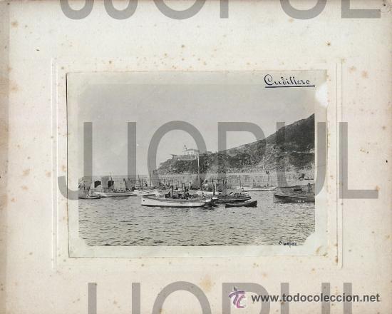 Fotografía antigua: CUDILLERO. ASTURIAS. VISTA DEL PUERTO CON BARCOS DE PESCA. C. LOPEZ. H. 1910 - Foto 3 - 52952253