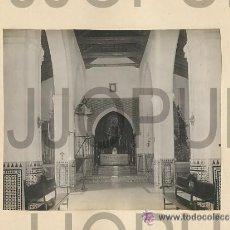 Fotografía antigua: LA PALMA DEL CONDADO HUELVA IGLESIA DE NUESTRA SEÑORA DEL VALLE 1922. Lote 52952372