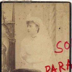 Fotografía antigua: FOTO NAPOLEON BARCELONA PRIMERA COMUNION CON RVERSO TAMAÑO POSTAL SIN CIRCULAR. Lote 53114893