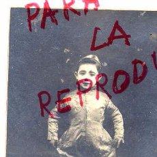 Fotografía antigua: DAGUERRE FOTO BARCELONA RETYRATO NIÑO DISFRAZ CON REVERSO NO CIIRCULADA TAMAÑO POSTAL. Lote 53116017