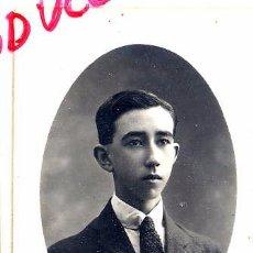 Fotografía antigua: FOTO ALMACENES EL SIGLO BARCELONA RETRATO JOVEN TAMAÑO POSTAL CON REVERSO. Lote 53154593